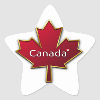 Canada Day Star Sticker