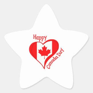 CANADA DAY STAR STICKER