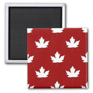 Canada Day White Maple Leaf Pattern Fridge Magnet
