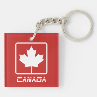 Canada Double-Sided Square Acrylic Keychain
