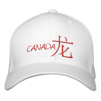 Canada Dragon Embroidered Hat