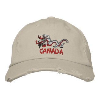 Canada Dragon with Swag Embroidered Baseball Caps