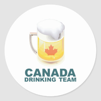 Canada Drinking Team Classic Round Sticker