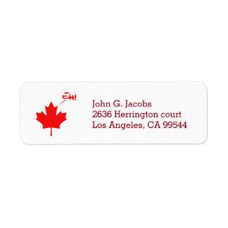 Canada Eh! Funny Canadian Pride Return Address Label