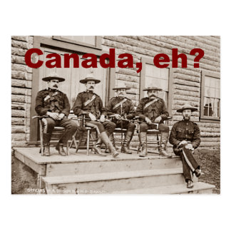 Canada Eh Vintage Mounties Photo Postcard