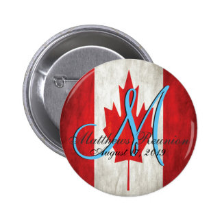 Canada Family Reunion Monogram 2 Inch Round Button