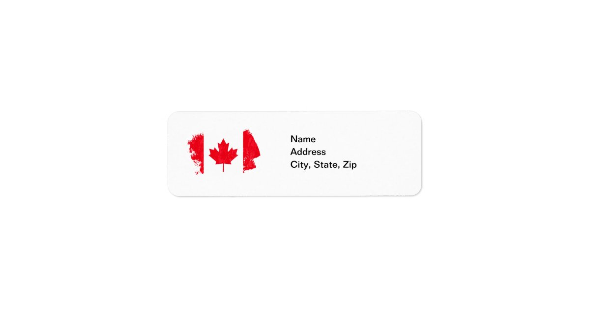 avery 6870 template - canada flag address labels zazzle