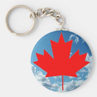Canada flag and blue sky keychain