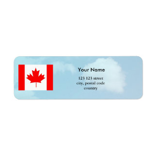 Canada flag and sky, make your own flag labels