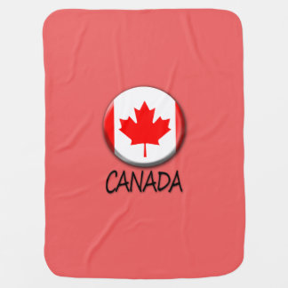 Canada Flag Baby Blanket
