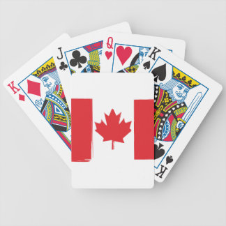 Canada flag bicycle playing cards