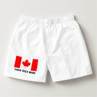 Canada flag boxer short or briefs for Canadian men Boxers