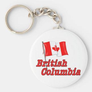 Canada Flag - British Columbia Basic Round Button Keychain