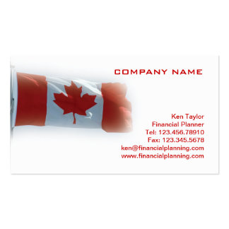 Canada Flag Business Card Red White