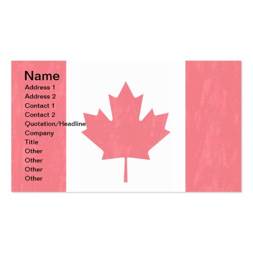 Canada flag business cards zazzle for Business cards canada