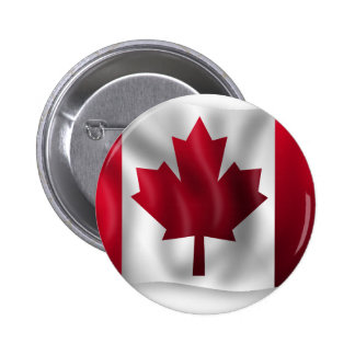 Canada Flag Canadian Country Emblem Leaf Maple 2 Inch Round Button