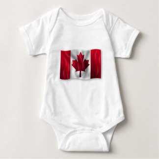 Canada Flag Canadian Country Emblem Leaf Maple Baby Bodysuit