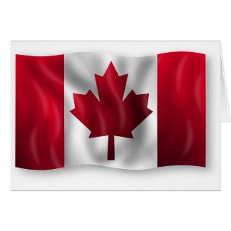 Canada Flag Canadian Country Emblem Leaf Maple Card