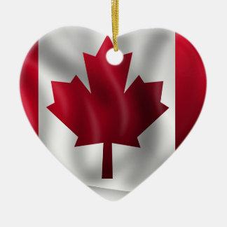 Canada Flag Canadian Country Emblem Leaf Maple Ceramic Ornament