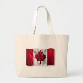 Canada Flag Canadian Country Emblem Leaf Maple Large Tote Bag