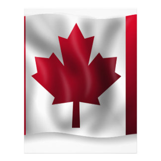 Canada Flag Canadian Country Emblem Leaf Maple Letterhead