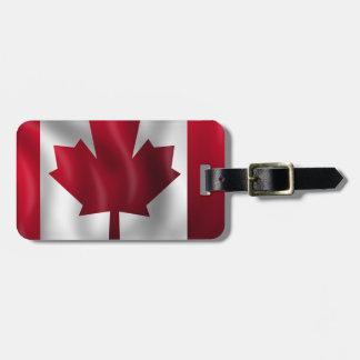 Canada Flag Canadian Country Emblem Leaf Maple Luggage Tag
