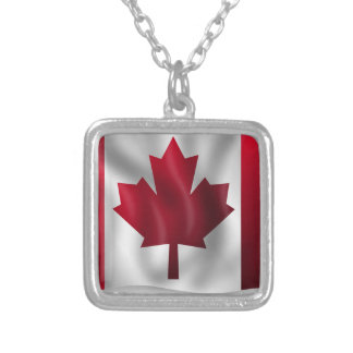 Canada Flag Canadian Country Emblem Leaf Maple Silver Plated Necklace