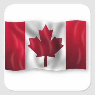 Canada Flag Canadian Country Emblem Leaf Maple Square Sticker