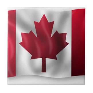 Canada Flag Canadian Country Emblem Leaf Maple Tile