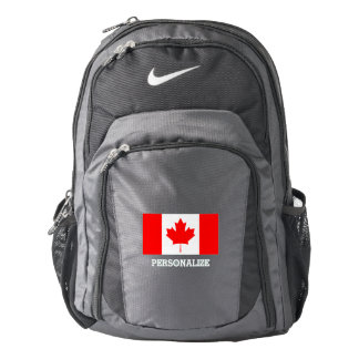Canada flag Canadian pride personalized Backpack