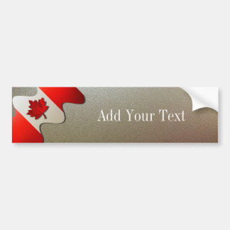Canada Flag-Chrome by Shirley Taylor Bumper Sticker