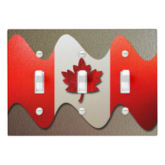 Canada Flag-Chrome by Shirley Taylor Light Switch Cover