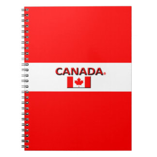 Canada Flag Colors Modern Notebook
