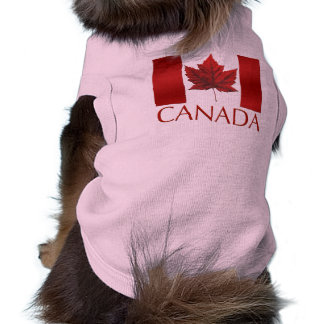 Canada Flag Dog T-shirts Gifts Canada Pet Souvenir