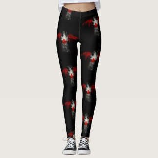 CANADA FLAG EAGLE LEGGINGS