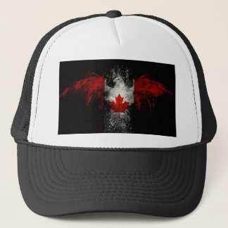 CANADA FLAG EAGLE TRUCKER HAT