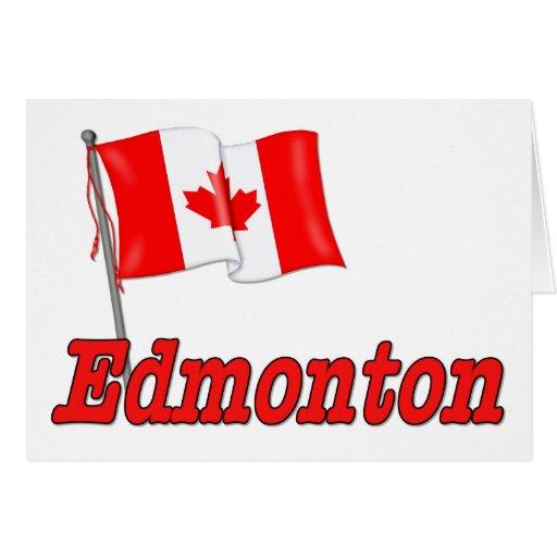 Canada Flag Edmonton Greeting Card Zazzle