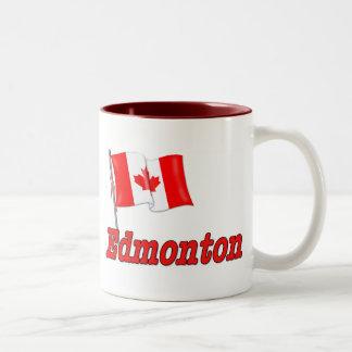Canada Flag - Edmonton Two-Tone Coffee Mug