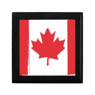 Canada flag gift box