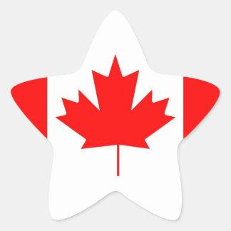 Canada flag Happy Canada Day Star Stickers