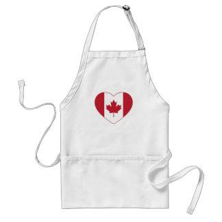 Canada Flag Heart Apron