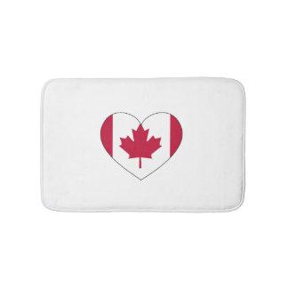 Canada Flag Heart Bath Mat