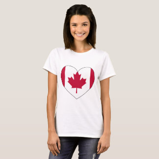 Canada Flag Heart T-Shirt