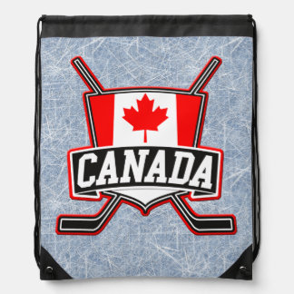 Canada Flag Hockey Backpack