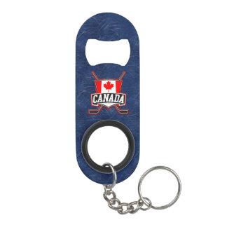 Canada Flag Hockey Logo Mini Bottle Opener