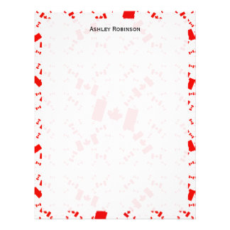 Canada Flag in Multiple Colorful Layers Askew Letterhead Design