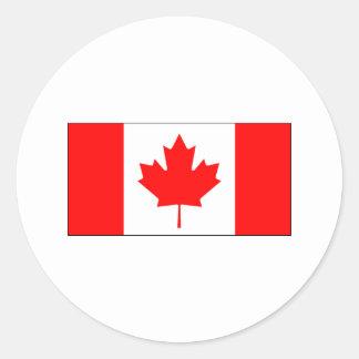 Canada FLAG International Round Sticker