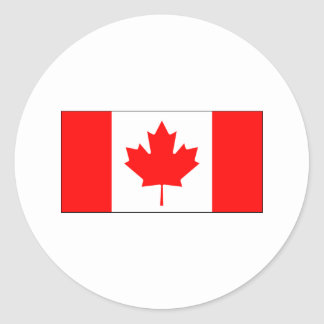Canada FLAG International Round Stickers