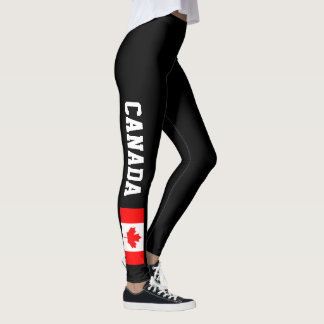 Canada flag leggings for Canadian women and girls