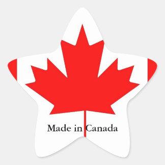 Canada flag, made in Canada Star Sticker